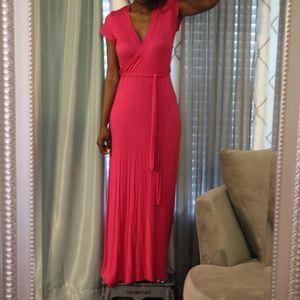 Lux Pink Maxi Dress